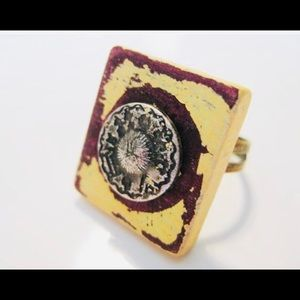 Jewelry - BoHo Scrabble tile adjustable ring